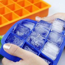 【15格方塊矽膠製冰盒】消暑沁涼糖果藍