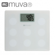 muva圓圓樂電子體重計 (典雅白)