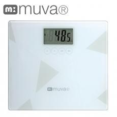 muva健康幾何學BMI電子體重計 (典雅白)