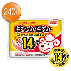 Sunlus三樂事快樂羊黏貼式暖暖包(14小時/10枚入)24包特惠組共240片