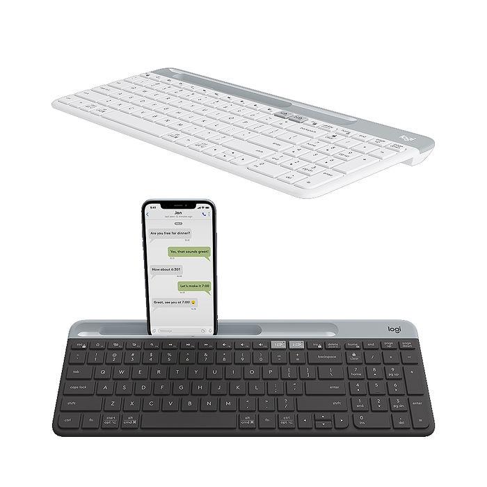 Logitech羅技 K580 超薄跨平台藍牙鍵盤珍珠白