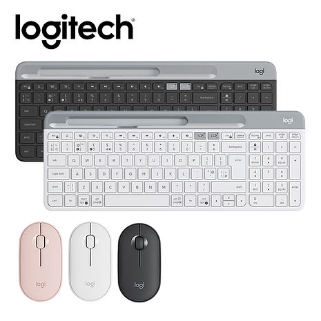 Logitech 羅技 K580超薄跨平台藍芽鍵盤+M350無線滑鼠K580(白)+M350(白)