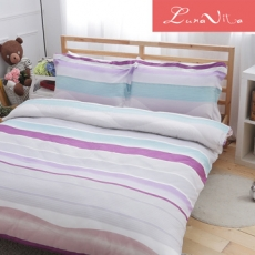 Luna Vita 雙人 天絲、木漿纖維 鋪棉兩用被四件組 -北極光
