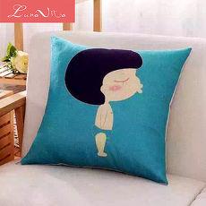 Luna Vita 居家簡約風采棉麻 靠枕/抱枕-男孩