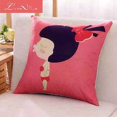 Luna Vita 居家簡約風采棉麻 靠枕/抱枕-女孩