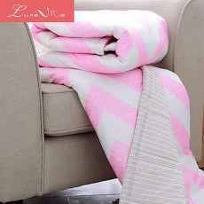 Luna Vita 台灣製純棉 活性環保印染 透氣涼被-150x195cm - 追尋-粉