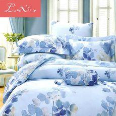 【Luna Vita】頂級緞紋天絲TENCEL 雙人床包舖棉兩用被四件組7組花色可選 - 爵士洛克 - 雙人(特賣)