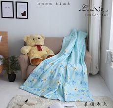 【Luna Vita】100%精梳純棉涼被-萊茵春色