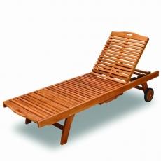 BROTHER 兄弟牌印尼柚木雪梨二節式躺椅
