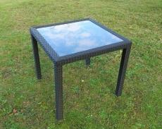 BROTHER 兄弟牌80cm鋁製膠藤方桌~桌腳桌邊膠藤包覆