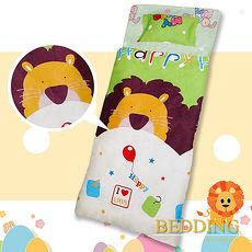 【BEDDING】100%棉 舖棉冬夏兩用兒童睡袋(森林之王) (特賣)