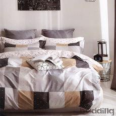 BEDDING-100%棉雙人鋪棉床包兩用被套四件組-海洋之星-咖