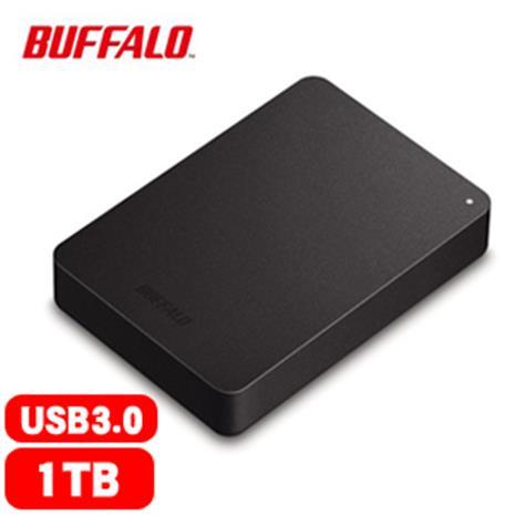 BUFFALO巴比祿 HD-PNFU3 2.5吋 1TB 防震加密 行動硬碟 黑