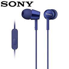 SONY 索尼 EX150AP 手機用密閉耳道式耳機麥克風 深藍