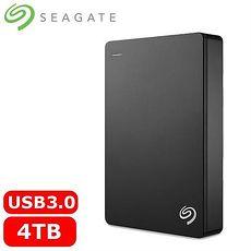 Seagate希捷 Backup Plus 2.5吋 4TB 行動硬碟-黑