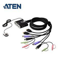 ATEN宏正 CS692  2埠帶線式KVM切換器(HDMI/1920x1200/SP)