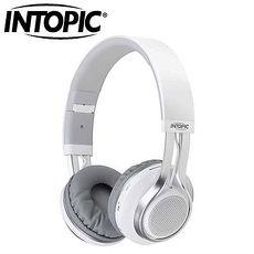 INTOPIC 廣鼎 JAZZ-BT960 藍牙摺疊耳機麥克風 白