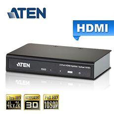 ATEN宏正 2埠 HDMI 影音分配器(VS182A)支援4K2K
