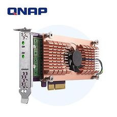 QNAP 威聯通 QM2-2S 雙埠 M.2 22110/2280 SATA SSD 擴充卡