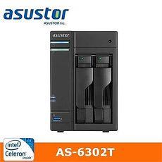 ASUSTOR華芸 AS-6302T 2Bay 網路儲存伺服器