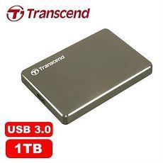 Transcend 创见 25C3N 1TB 2.5吋 USB3.1 超薄铝合金 外接式硬盘