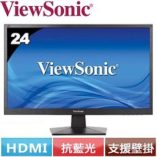 ViewSonic優派 24型 Full HD零閃頻抗藍光護眼螢幕 VA2407H