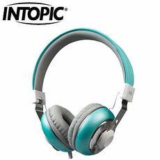 INTOPIC 音樂摺疊耳機麥克風 JAZZ-M308-BL 海綠