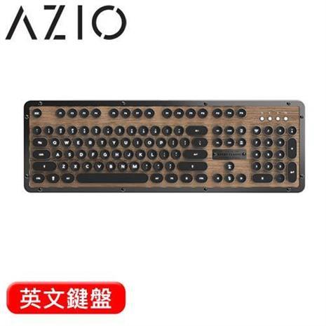 AZIO RETRO ELWOOD BT 藍牙核桃木打字機鍵盤 Typelit機械軸 英文