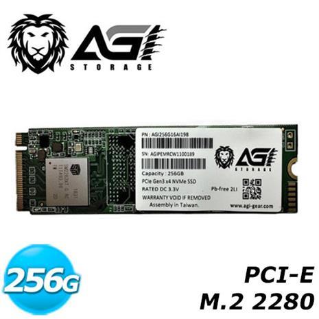 AGI 亞奇雷 256G SSD PCIe 固態硬碟