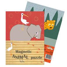 【Babytiger虎兒寶】比利時 Egmont Toys 艾格蒙繪本風口袋遊戲磁鐵書 - -動物拼圖
