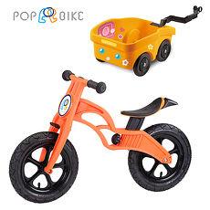 【BabyTiger虎兒寶】POPBIKE  兒童平衡滑步車 - AIR充氣胎 + 拖車組(黃)AIR紅+拖車組(黃)