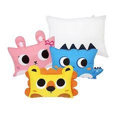 【Babytiger虎兒寶】MYHOUSE 韓國防?抗敏可愛動物夥伴雙面枕頭套+枕心組 - 六款枕套+枕心-兔子