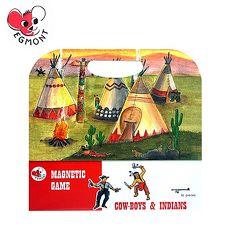 【Babytiger虎兒寶】比利時 Egmont Toys 艾格蒙繪本風遊戲磁貼書 - 牛仔與印地安~特賣