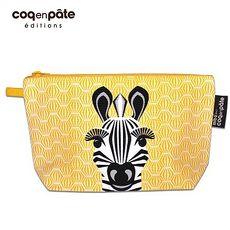 【BabyTiger虎兒寶】coqenpate 法國有機棉無毒環保布包 / 大大水堅包 - 斑馬