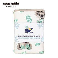 【BabyTiger虎兒寶】coqenpate 法國柔柔攜帶有機被毯 - 無尾熊