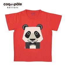 【BabyTiger虎兒寶】coqenpate 法國有機棉童趣 短袖 T-SHIRT - 熊貓