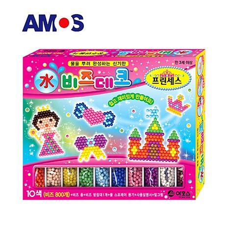 【BabyTiger虎兒寶】韓國 AMOS 益智水拼珠 - 公主款~特賣
