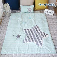 【Babytiger虎兒寶】MYHOUSE 韓國防?抗敏派對動物兒童睡袋 - 流星藍~特賣