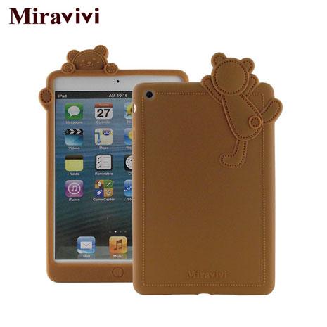 Miravivi iPad mini 動物狂想曲系列立體熊保護套-焦糖棕