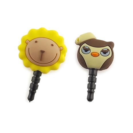 Butter Lion 奶油獅 好朋友系列立體造型耳機防塵塞-奶油獅+卡布鷹