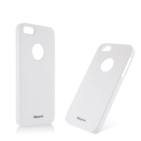 Miravivi Apple iPhone5 時尚馬卡龍保護彩殼-純潔白