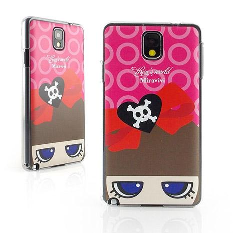 Miravivi Samsung Galaxy note 3 Q娃兒的世界系列時尚保護殼-骷顱蝴蝶結