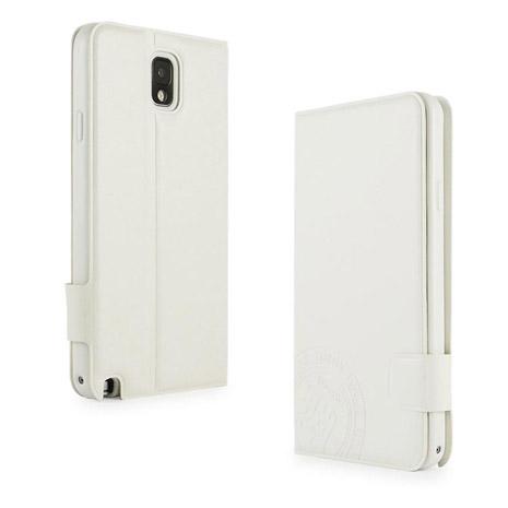 Miravivi Samsung GALAXY note3 知性系列可立筆記本皮套-純潔白