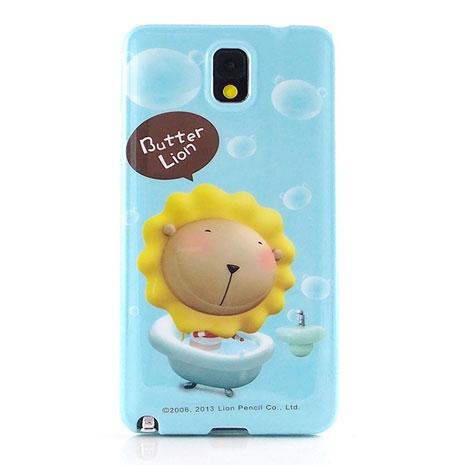Butter Lion 奶油獅 Samsung Galaxy note3 時尚彩繪保護套-泡泡浴