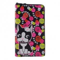 Rebecca Bonbon 6.4吋通用繽紛系列皮革手機L包-甜點泡泡