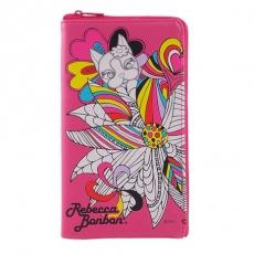 Rebecca Bonbon 6.4吋通用經典系列皮革手機L包-繽紛花樣