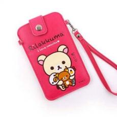 Rilakkuma 拉拉熊/懶懶熊 5吋通用彩繪皮革手機袋-玩偶奶油熊