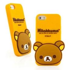 Rilakkuma 拉拉熊/懶懶熊iPhone 5/5s/5c 可愛立體造型經典大頭保護套-橙色