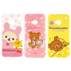 Rilakkuma 拉拉熊/懶懶熊NEW HTC ONE(M7)彩繪保護套