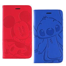 Disney Xiaomi 紅米 Note 2 時尚角色壓紋側掀可立式皮套史迪奇